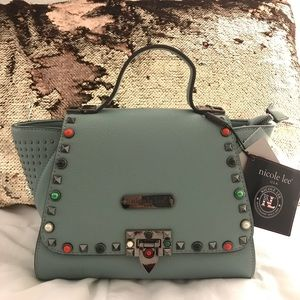 STUDDED SATCHEL BAG w/ FREE cute Surprise Gift